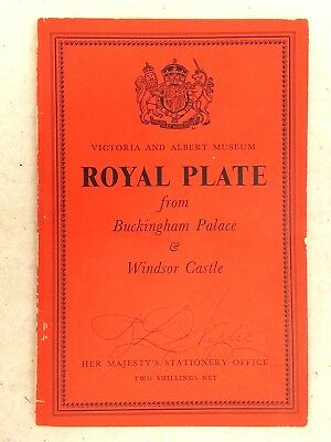 Royal Plate Buckingham Palace Windsor Castle Picture Book 1954 Victoria Albert