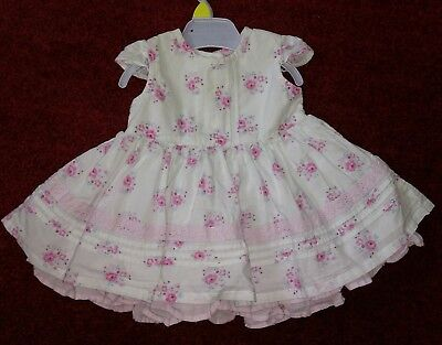 Clothing, Shoes & Accessories George Baby Girls Floral Print Summer Cotton Dress 0-3 Months