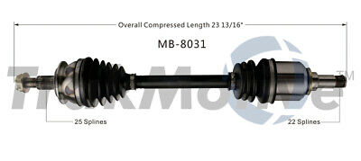 Front Left Axle Assembly For 2006-2011 Mercedes B200 Naturally Aspirated 2007