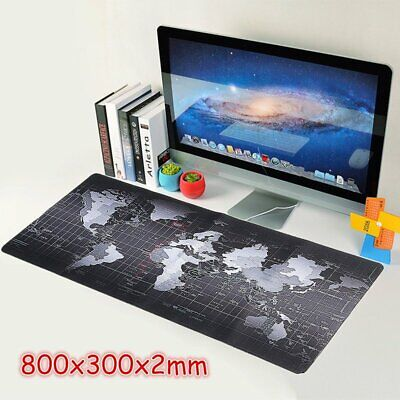 Anti-Slip XL Speed Gaming Mouse Pad World Map Desk Mat for PC Laptop 80cm*30cm