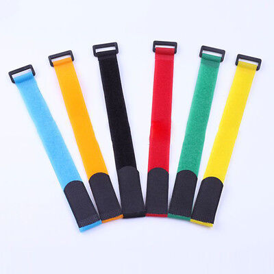 10PCS Fishing Rod Cable Tie Tackle Strap Belt Wrap Holder Handy Accessories
