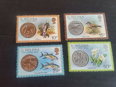 St Helena 1984 Sg 442-445 New Coinage Mnh  (T)