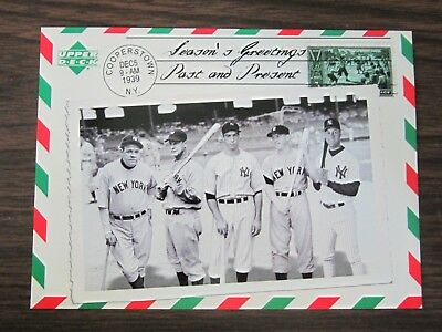 2004 Upper Deck Happy Holidays Card New York Yankees Babe Ruth Mickey Mantle