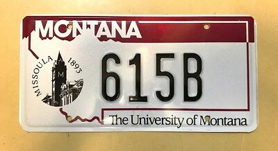 MONTANA LICENSE PLATE c2006 UNIVERSITY OF MONTANA MINT CONDITION