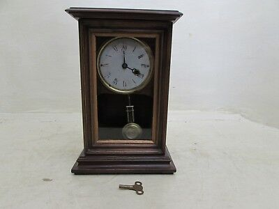 Rare Antique Junghans Germany Oak Cased Cottage Clock Mantel Clock For Repair