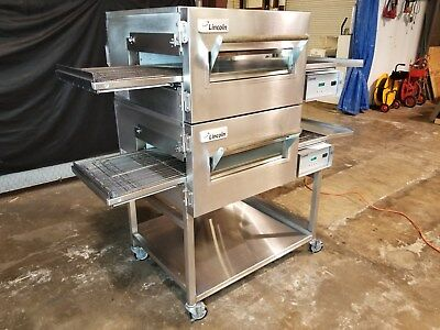 Lincoln Impinger 1132 Dbl. Stack Electric Conveyor Pizza Ovens...Video Demo