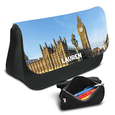 London Personalised Pencil Case Game School Bag Kids Stationary - 11