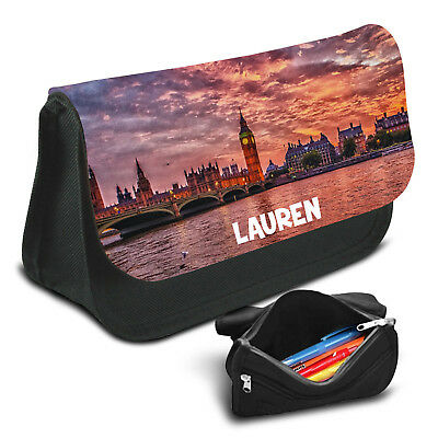 London Personalised Pencil Case Game School Bag Kids Stationary - 17