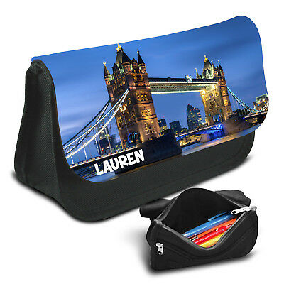 London Personalised Pencil Case Game School Bag Kids Stationary - 03