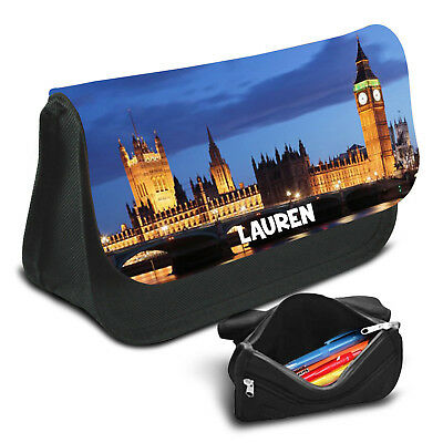 London Personalised Pencil Case Game School Bag Kids Stationary - 09