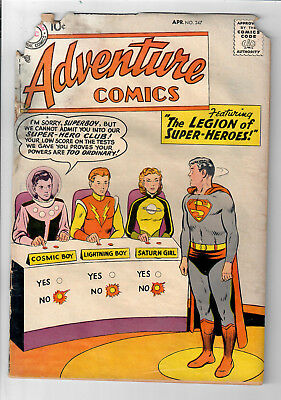 ADVENTURE COMICS #247 - Grade 1.0 - First Appearance of LEGION OF SUPERHEROES!