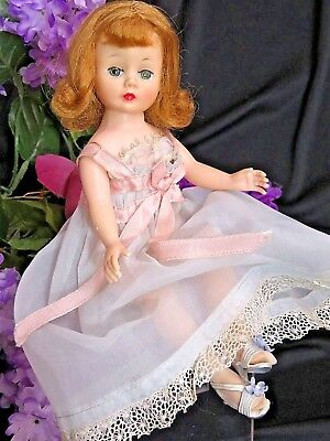 VINTAGE 1950s Madame Alexander CISSETTE DOLL in LINGERIE negligee BRA shoes