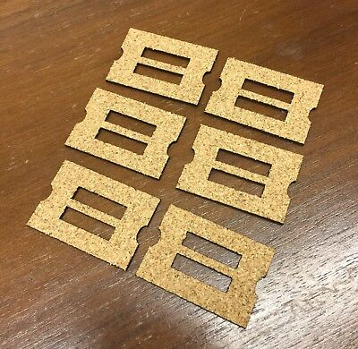 6 Cork Gaskets for Early Ampico A Player Piano Unit Valves, New