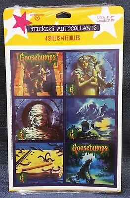 Vintage 1995 RL Stine GOOSEBUMPS Collectible Sticker Sheet - NEW - 24 Stickers