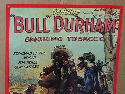 POSSUM HUNTERS Take Smoke Break for BULL DURHAM TOBACCO Then Boy Sees Bull- SIGN