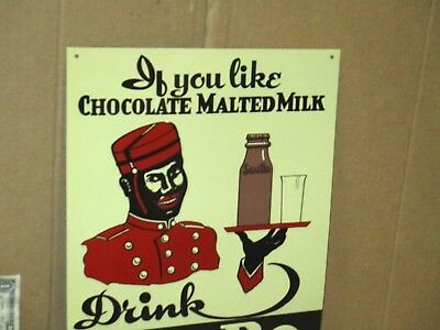 CHOCOLATE MILK Pics Old GLASS BOTTLE Advertises SAM BO Dairy Drink NEW YORK SIGN