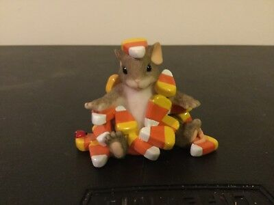 """Charming Tails By Fitz & Floyd  Figurine """"candy Corn Caper"""""""