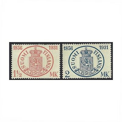 Finland 1931 Stamp Anniversary Set of 2 Scott 182/3 MLH (4-26)