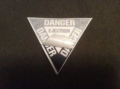 Usaf Ejection Seat-Danger Fighter Aircraft Decal U.s. Military Style Subdued