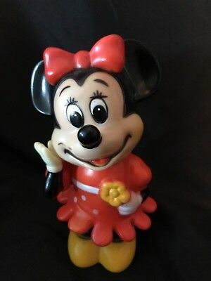 Vintage MINNIE MOUSE PLASTIC BANK Walt Disney Productions