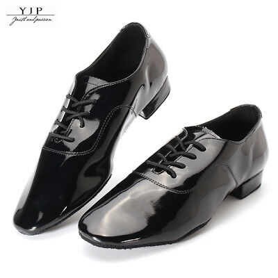 YJP Adult Men Ballroom Latin Salsa Tango Dance Shoes 2.5cm / 3.5cm Heel Bright
