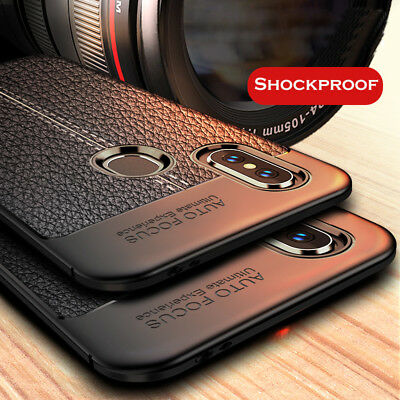 For Xiaomi Redmi S2/5 Plus/Note 5A/4 Shockproof Soft TPU Leather Back Case Cover