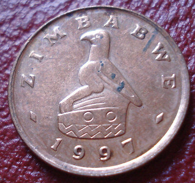 1997 Zimbabwe 1 Cent In Au Condition