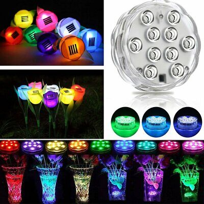 RGB LED Disco Swimming Pool Spa Light  Solar Flower Yard Garden Lamp Party Decor