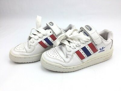 cheap for discount c6520 f5c0c Adidas Originals Mens Forum Lo Red White Blue Leather Strap Sneaker Size 7