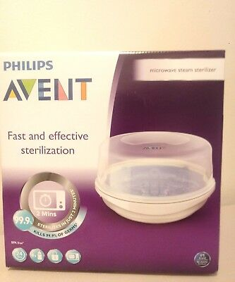 Philips AVENT Microwave Steam Baby Bottle Sterilizer - New Clean Babies Bottles