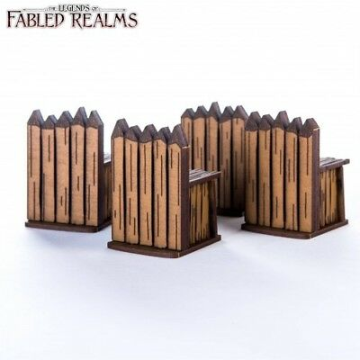 """Fabled Realms: Four 1.5"""" Palisade Walls"""