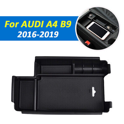Armrest Storage Box For AUDI A4 B9 2016-2018 Center Console Glove Tray Case