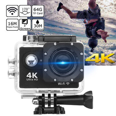 4K Ultra HD WiFi Sport DV Action Camera 16MP Video Cam Camcorder Waterproof