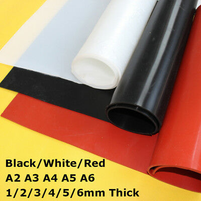 A2 A3 A4 A5 A6 Red/Black/White Silicone Rubber Sheet Plate Mat New 1/2/3/4/5/6mm