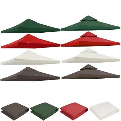 Gazebo Top Canopy Replacement UV30 Patio Outdoor Sunshade Cover 8'x8' 10'x10'