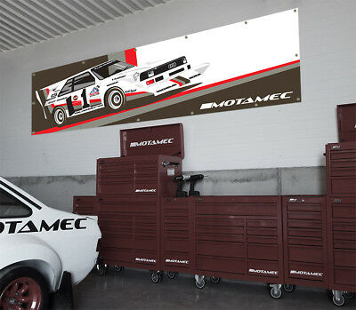 Motamec Audi Quattro S1 Group B Pikes Peak Large Wall Banner for Garage Worshop
