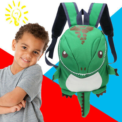 Toddler 3D Dinosaur Backpack Child Kid Kindergarten School Bag Gift Waterproof
