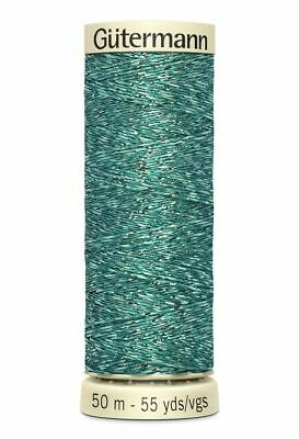 Gutermann Metallic Effect Thread 50m #143 BLUE