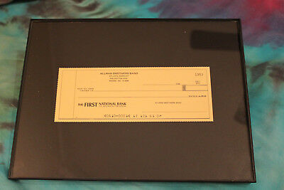 Allman Brothers Band Check/Bank Account(Framed)Duane,Gregg,Dickey,Jaimoe,Butch