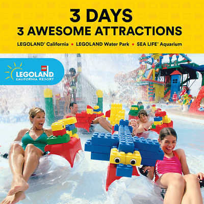 LEGOLAND California 3-Day Resort Hopper eTicket