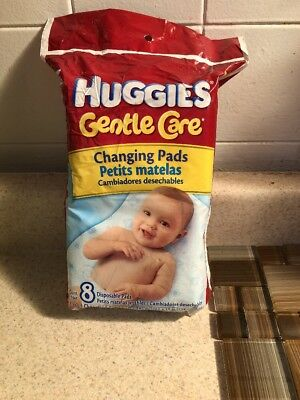 Huggies Gentle Care Disposable Changing Pads ~total of 8 pads