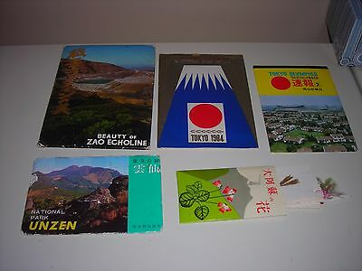 Lot 25 Vintage Postcard Souvenir Folders All Japan Japanese + flowers Mt Aso 60s