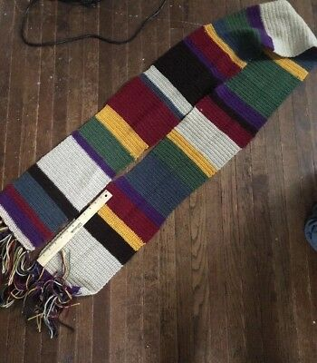 Handmade Doctor Who Inspired Forth Doctor Crochet  Scarf Cosplay
