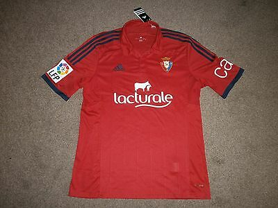 New With Tags Mens Adidas Ca Osasuna Pamplona Home Shirt Size L  Rrp £60