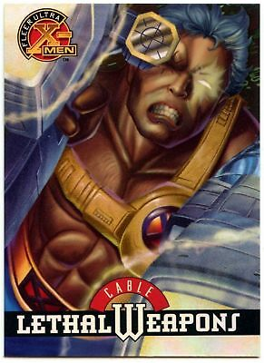 Cable #3 Of 9 X-Men Chromium Lethal Weapons Fleer Ultra 1995 Chase Card (C1402)