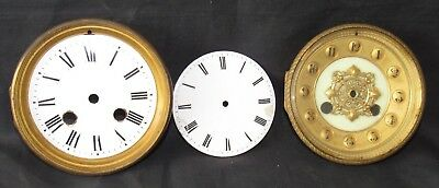 3 x Antique French Clock Dials
