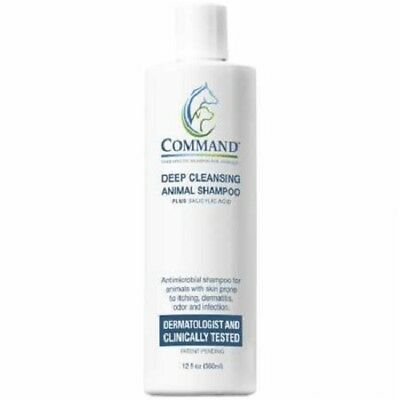 Command Therapeutic Deep Cleansing Medicated Animal Shampoo Made in the USA 12oz