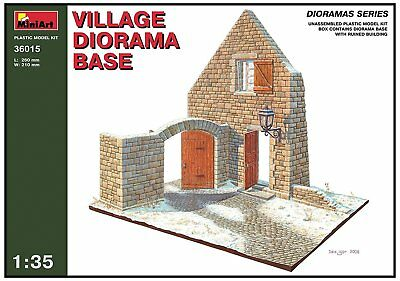 "Miniart 1:35 Scale ""Village Diorama Base"" Plastic Model Kit"