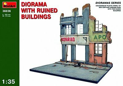 "Miniart 1:35 Scale ""Diorama w/ Ruined Buildings"" Plastic Model Kit"