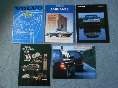 VOLVO DL GL 240 740 940 960 Turbo Wagon Brochure Lot of 5 Original Info Specs